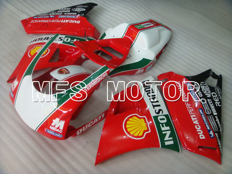 Injection ABS Fairing For Ducati 748 / 998 / 996 1994-2002 - INFO STRADA - Rød - MFS3908 - Shopping og engros