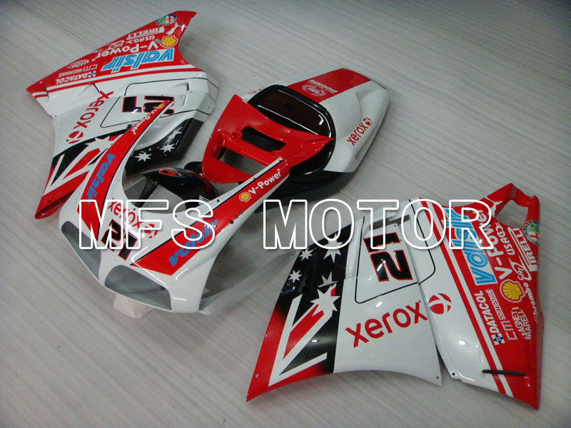 Injection ABS Fairing For Ducati 748 / 998 / 996 1994-2002 - Xerox - Rødhvitt - MFS3946 - shopping og engros