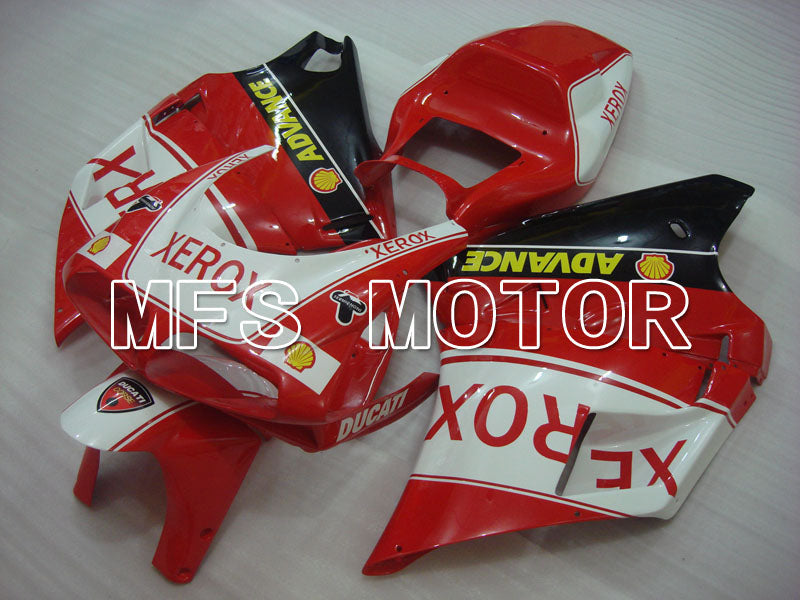 Injection ABS Fairing For Ducati 748 / 998 / 996 1994-2002 - Xerox - Rødhvitt - MFS3959 - shopping og engros