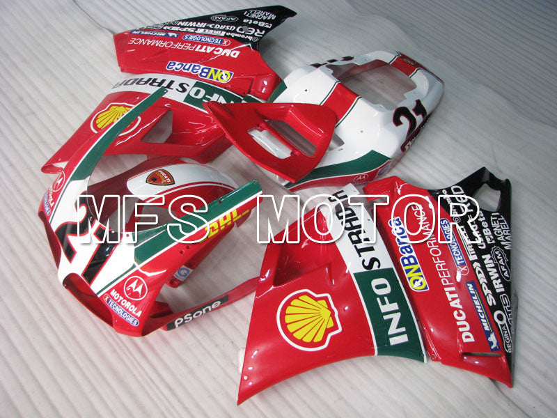 Injection ABS Fairing For Ducati 748 / 998 / 996 1994-2002 - INFO STRADA - Rød - MFS3962 - Shopping og engros