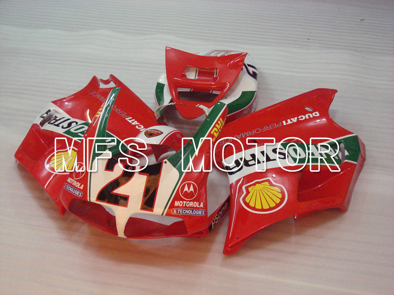Injection ABS Fairing For Ducati 748 / 998 / 996 1994-2002 - INFO STRADA - Rød - MFS3972 - Shopping og engros