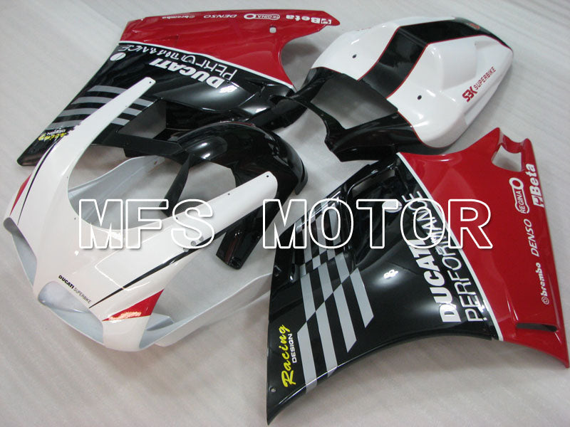 Injection ABS Fairing For Ducati 748 / 998 / 996 1994-2002 - Ytelse - Hvit Svart - MFS3984 - Shopping og engros