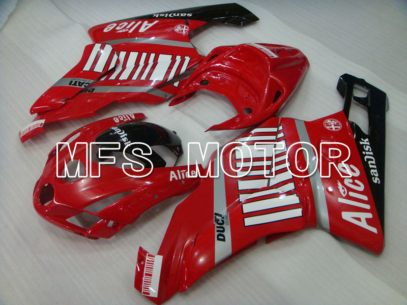 Injection ABS Fairing For Ducati 749 / 999 2003-2004 - Alice - Rød Sort - MFS3998 - Shopping og engros