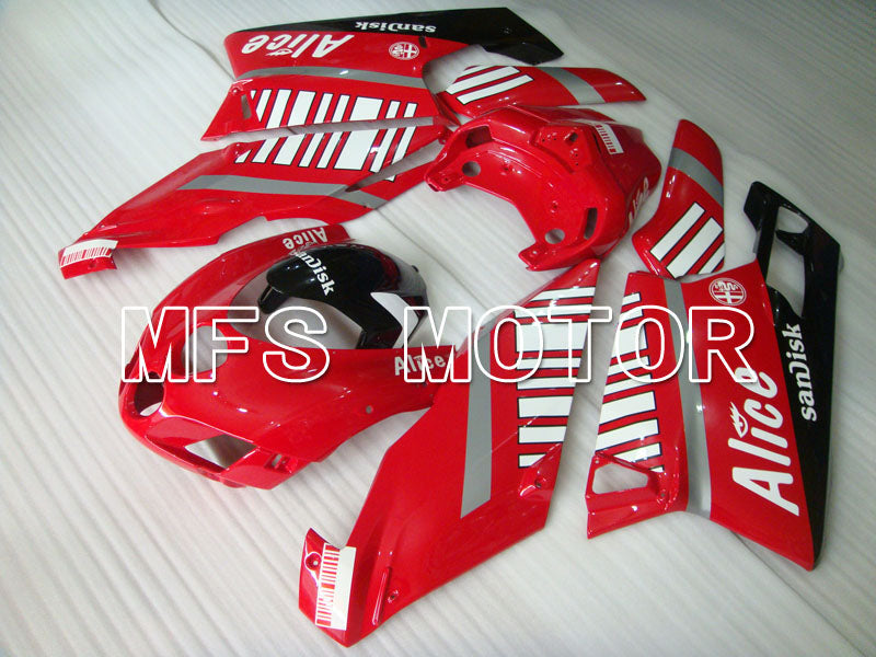 Injection ABS carénage pour Ducati 749 / 999 2005-2006 - Alice - Rouge Blanc - MFS4046 - Shopping et gros