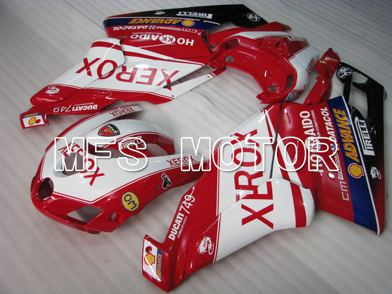 Carénage ABS d'Injection pour Ducati 749 / 999 2005-2006 - Xerox - Rouge Blanc - MFS4056 - Shopping et gros