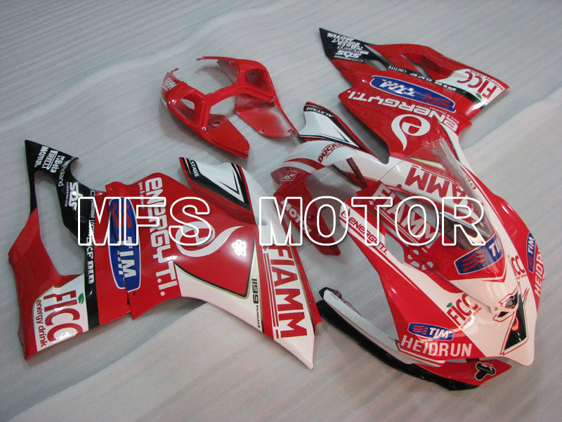 Injection ABS Fairing For Ducati 1199 2011-2014 - FIAMM - Rød Hvit - MFS4066 - Shopping og engros