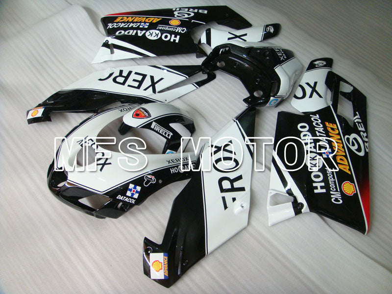 Injeksjon ABS Fairing For Ducati 749 / 999 2005-2006 - Xerox - Sort Hvit - MFS4069 - Shopping og engros
