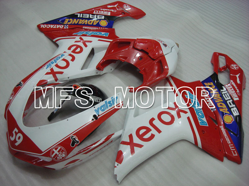 Injection ABS Fairing For Ducati 848 / 1098 / 1198 2007-2011 - Xerox - Rødhvitt - MFS4092 - shopping og engros