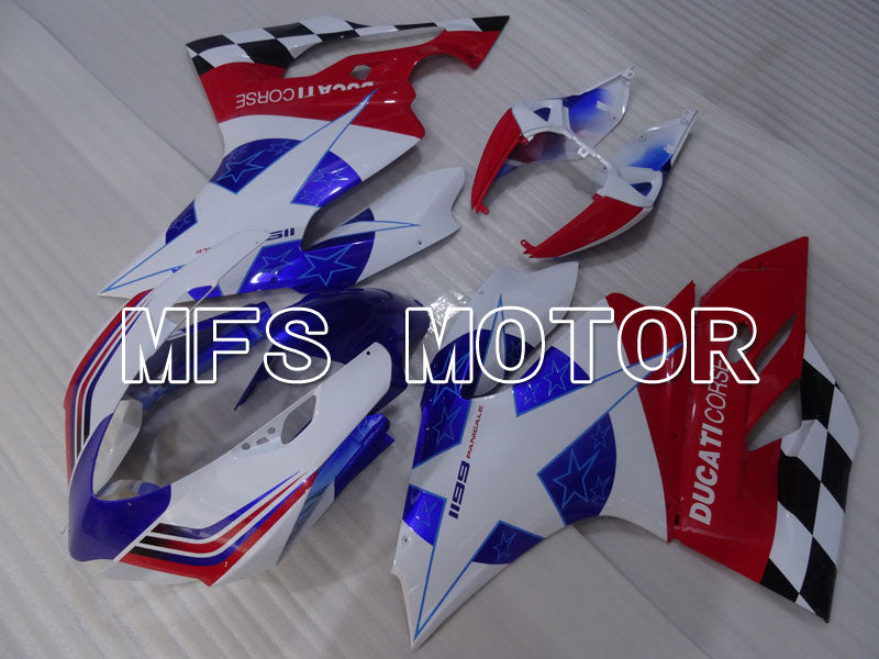 Injection ABS Fairing For Ducati 1199 2011-2014 - Fabrikkstil - Rød Hvit Blå - MFS4096 - Shopping og engros