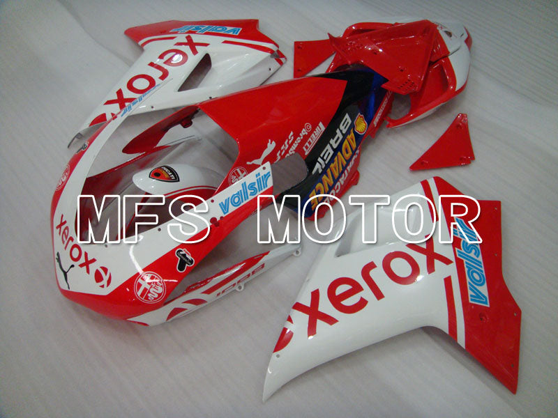 Injection ABS Fairing For Ducati 848 / 1098 / 1198 2007-2011 - Xerox - Rødhvitt - MFS4099 - shopping og engros