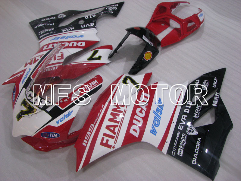 Injection ABS Fairing For Ducati 1199 2011-2014 - FIAMM - Rød Hvit - MFS4100 - Shopping og engros