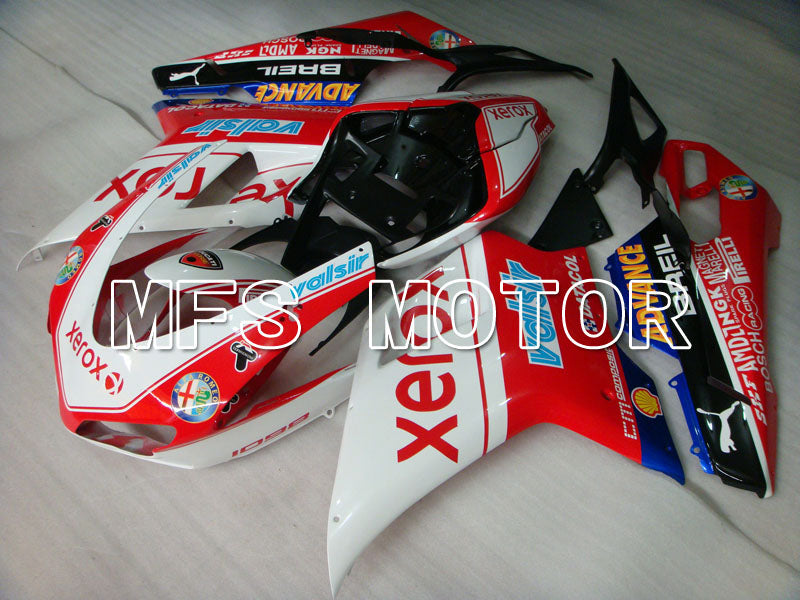 Injection ABS Fairing For Ducati 848 / 1098 / 1198 2007-2011 - Xerox - Rødhvitt - MFS4106 - shopping og engros