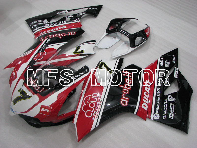 Injection ABS Fairing For Ducati 1199 2011-2014 - Aruba. Det - Svart Hvit Rød - MFS4108 - Shopping og engros