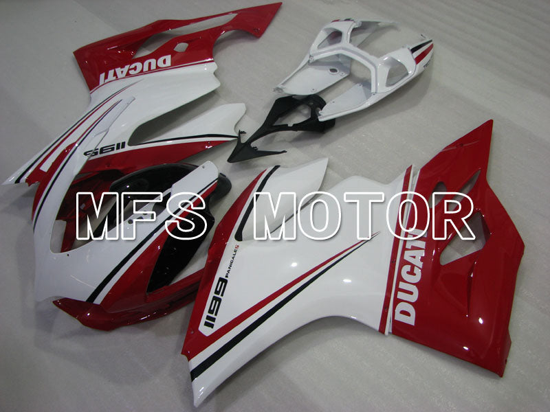 Injection ABS Fairing For Ducati 1199 2011-2014 - Factory Style - Red White - MFS4117 - shopping and wholesale