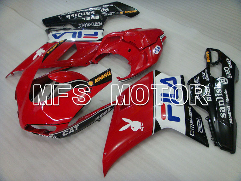 Injection ABS Fairing For Ducati 848 / 1098 / 1198 2007-2011 - FILA - Rød Sort - MFS4119 - Shopping og engros