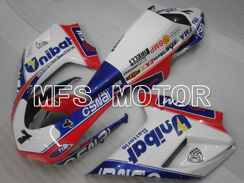 Injection ABS Fairing For Ducati 848 / 1098 / 1198 2007-2011 - Unibat - Rosa Hvit - MFS4130 - Shopping og engros