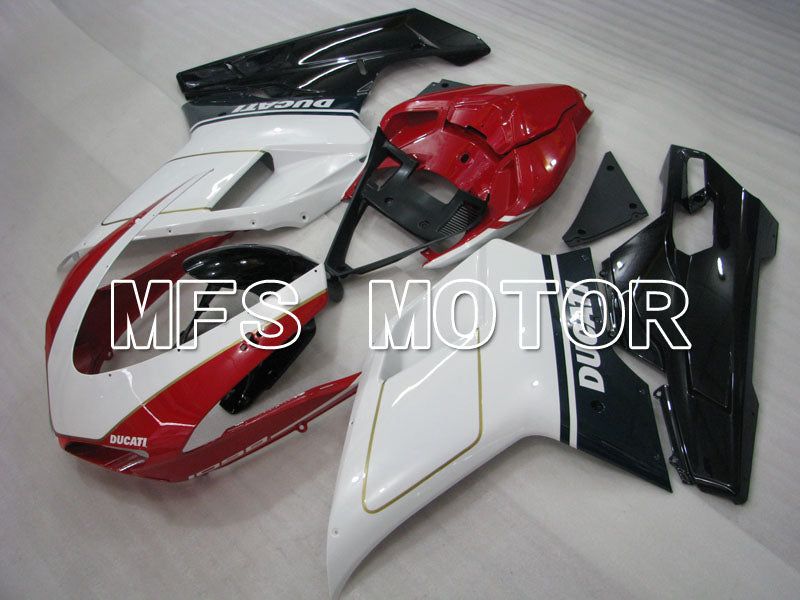 Injection ABS Fairing For Ducati 848 / 1098 / 1198 2007-2011 - Factory Style - Red White - MFS4134 - shopping and wholesale