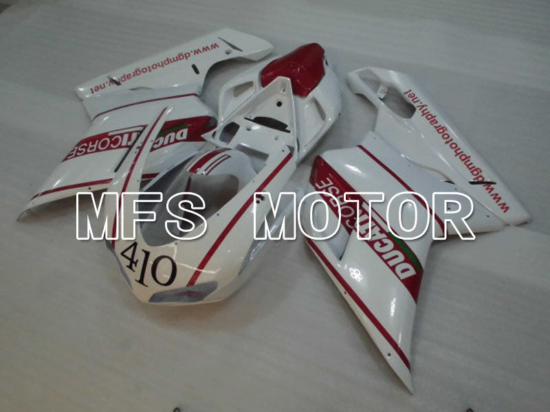 Injection ABS Fairing For Ducati 848 / 1098 / 1198 2007-2011 - Fabrikkstil - Rødvinfarge Hvit - MFS4148 - Shopping og engros