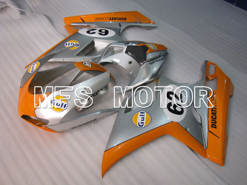 Injection ABS Fairing For Ducati 848 / 1098 / 1198 2007-2011 - Golf - Oransje Silver - MFS4149 - Shopping og engros