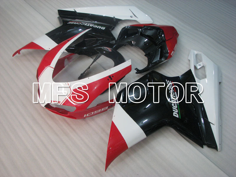 Injection ABS Fairing For Ducati 848 / 1098 / 1198 2007-2011 - Fabrikkstil - Svart Rød - MFS4152 - Shopping og engros