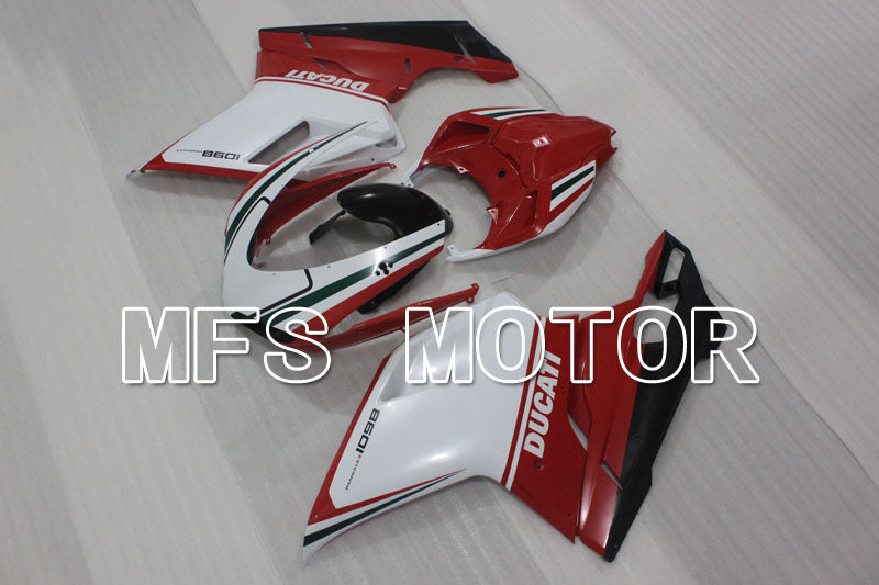 Injection ABS Fairing For Ducati 848 / 1098 / 1198 2007-2011 - Factory Style - Red White - MFS4156 - shopping and wholesale