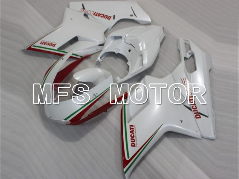 Injection ABS Fairing For Ducati 848 / 1098 / 1198 2007-2011 - Factory Style - Red White - MFS4162 - shopping and wholesale