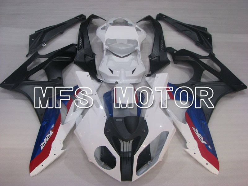 Injection ABS Fairing För BMW S1000RR 2009-2014 - Fabriksstil - Svart Vit Matte - MFS4163 - Shopping och grossist