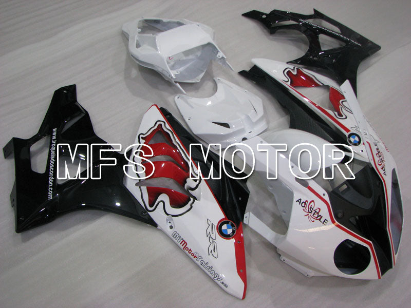 Injection ABS Fairing för BMW S1000RR 2009-2014 - Fabriksstil - Svartvit - MFS4165 - Shopping och grossist