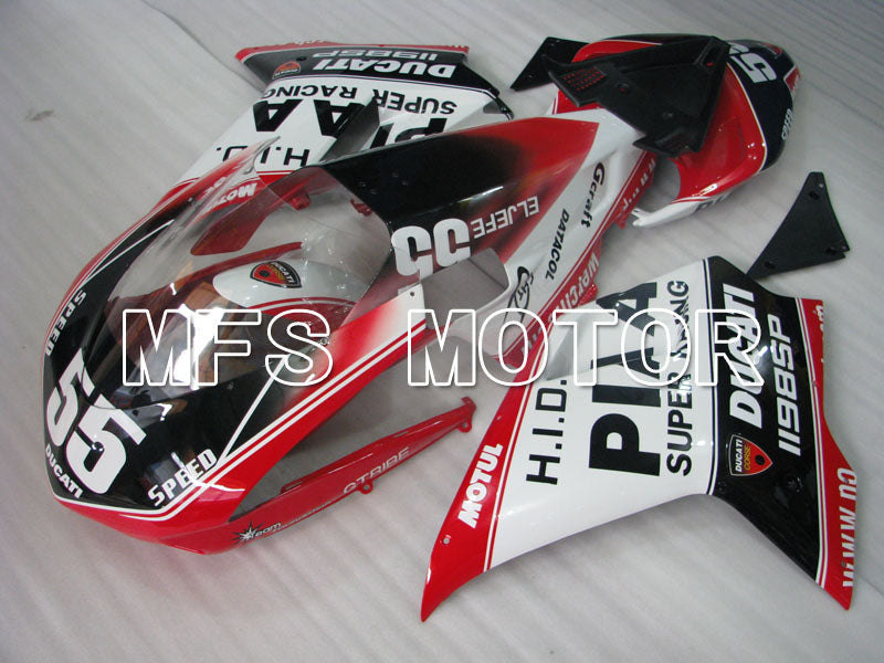 Injection ABS Fairing For Ducati 848 / 1098 / 1198 2007-2011 - Andre - Svart Hvit - MFS4167 - Shopping og engros