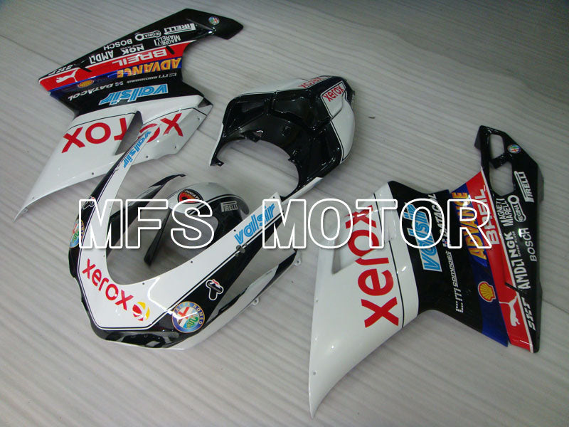 Injection ABS Fairing For Ducati 848 / 1098 / 1198 2007-2011 - Xerox - Svart Hvit - MFS4171 - Shopping og engros