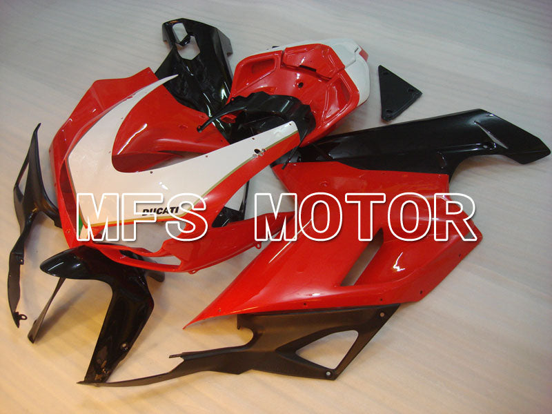 Injection ABS Fairing For Ducati 848 / 1098 / 1198 2007-2011 - Factory Style - Red White - MFS4177 - shopping and wholesale