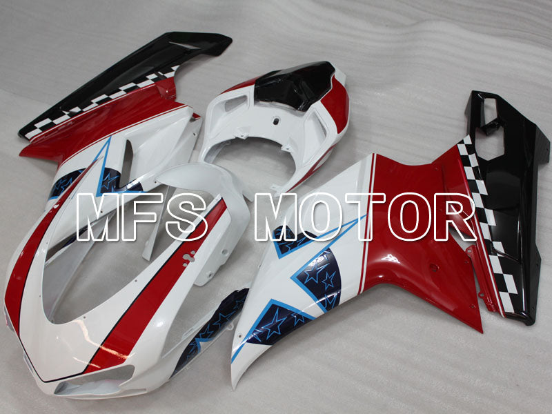 Injection ABS Fairing For Ducati 848 / 1098 / 1198 2007-2011 - Andre - Rød Hvit - MFS4178 - Shopping og engros