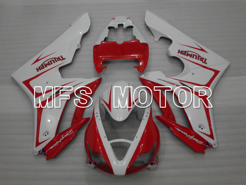 Injection ABS Fairing For Triumph Daytona 675 2006-2008 - Fabriksstil - Rød Hvid - MFS4179 - Shopping og engros