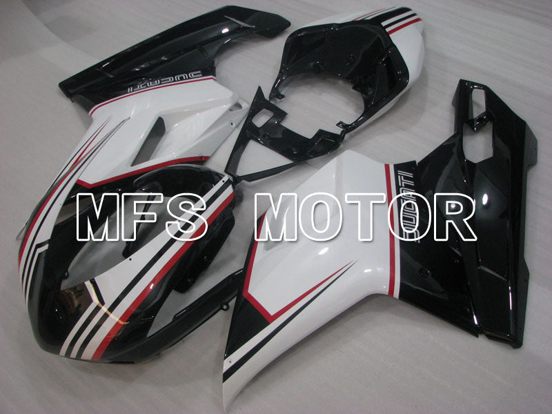 Injection ABS Fairing For Ducati 848 / 1098 / 1198 2007-2011 - Fabrikkstil - Svart Hvit - MFS4182 - Shopping og engros