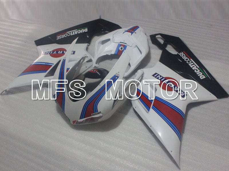 Injection ABS Fairing For Ducati 848 / 1098 / 1198 2007-2011 - MARTINI - Svart Hvit - MFS4184 - Shopping og engros