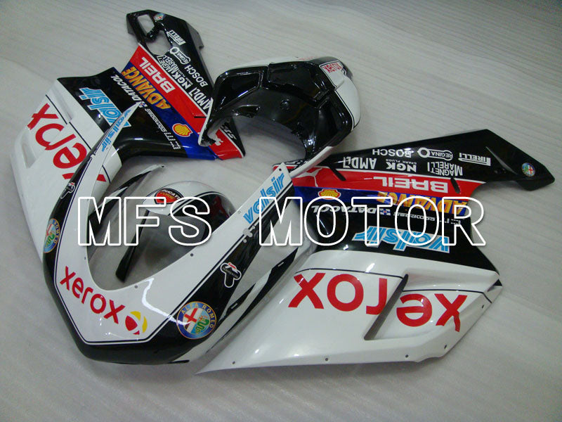 Injection ABS Fairing For Ducati 848 / 1098 / 1198 2007-2011 - Xerox - Svart Hvit - MFS4187 - Shopping og engros