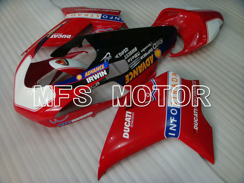 Injection ABS Fairing For Ducati 848 / 1098 / 1198 2007-2011 - INFO STRADA - Rød Hvit - MFS4193 - Shopping og engros