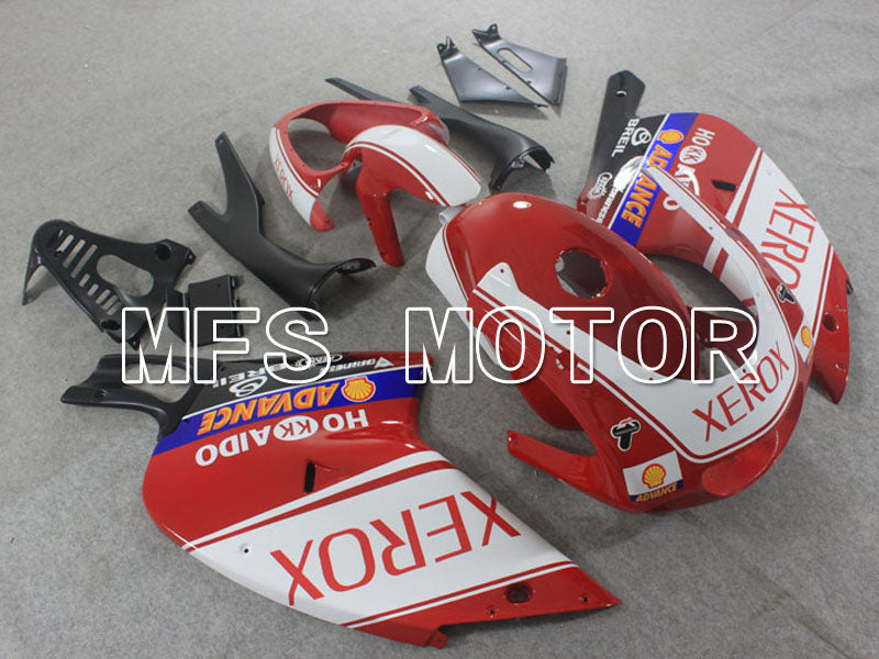 ABS Fairing For Aprilia RS125 2000-2005 - Xerox - Rødhvide - MFS4198 - Shopping og engros