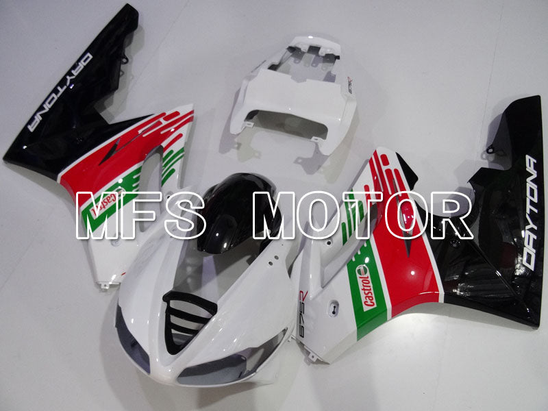 Injection ABS Fairing For Triumph Daytona 675 2009-2012 - Castrol - Rød Grønn Hvit - MFS4224 - Shopping og engros