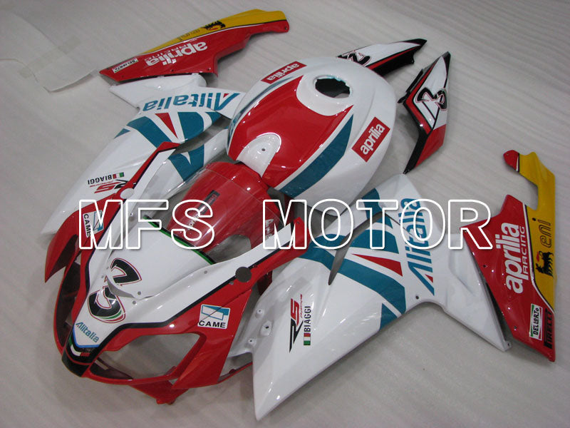 Injection ABS Fairing For Aprilia RS125 2006-2011 - Alitalia - Rød Hvit - MFS4226 - Shopping og engros