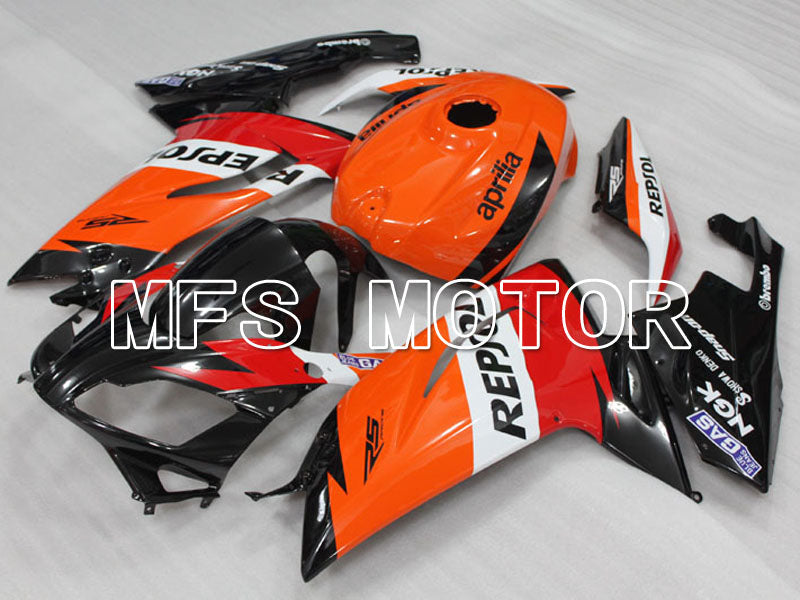 Injection ABS carénage pour Aprilia RS125 2006-2011 - Repsol - Noir Orange Rouge - MFS4236 - Shopping et gros