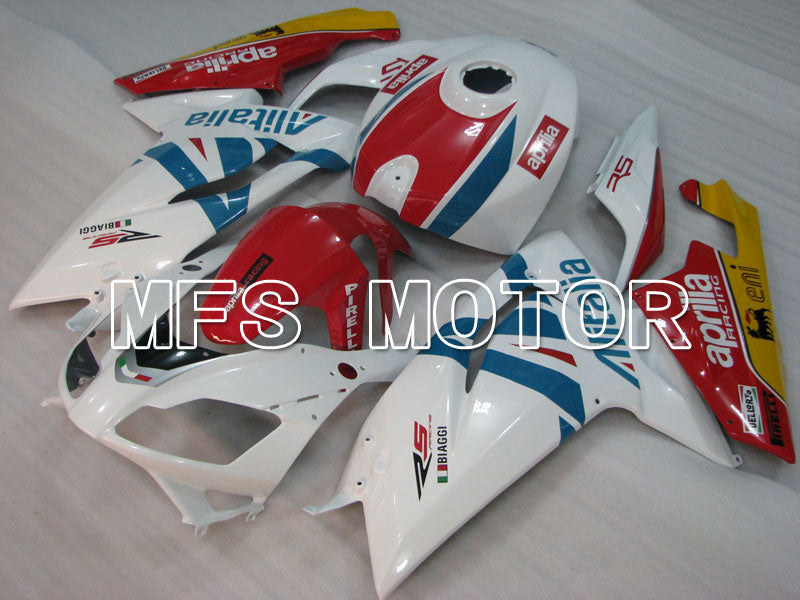 Injection ABS Fairing For Aprilia RS125 2006-2011 - Alitalia - Rød Hvit - MFS4250 - Shopping og engros
