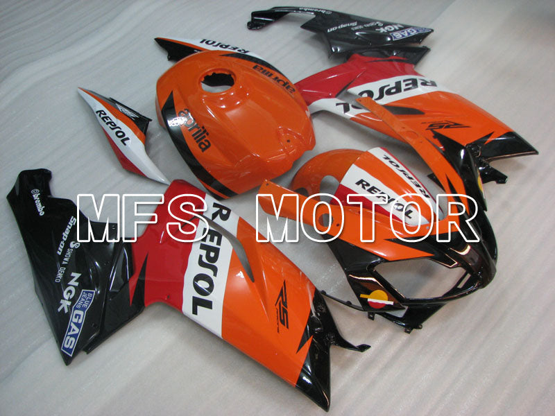 Injection ABS Fairing For Aprilia RS125 2006-2011 - Repsol - Sort Orange Rød - MFS4255 - Shopping og engros
