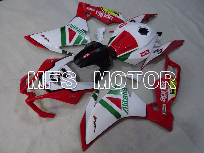 Injection ABS Fairing For Aprilia RS125 2012-2014 - Alitalia - Rød Hvit - MFS4270 - Shopping og engros