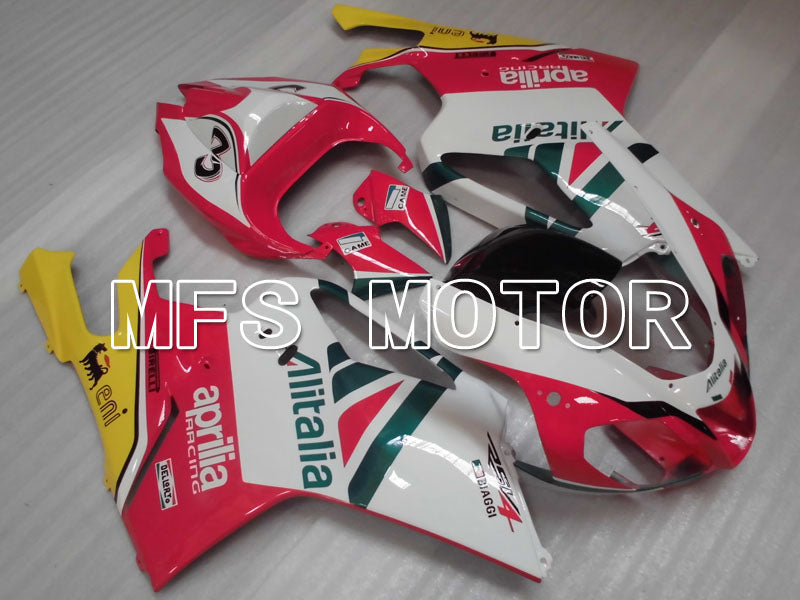 ABS Fairing For Aprilia RSV 1000 R 2003-2006 - Alitalia - White Pink - MFS4312 - shopping and wholesale