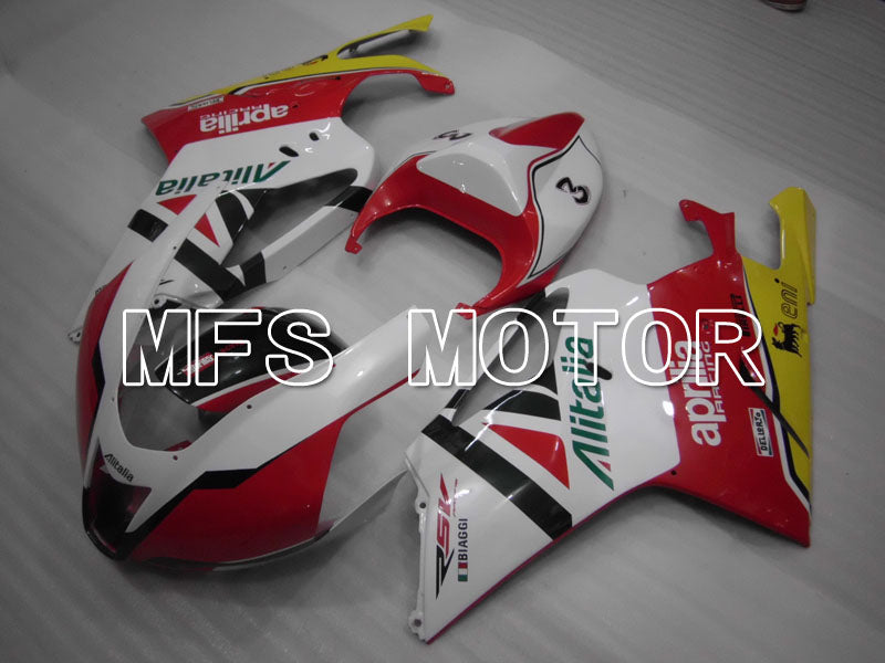ABS Fairing For Aprilia RSV 1000 R 2003-2006 - Alitalia - White Red - MFS4328 - shopping and wholesale