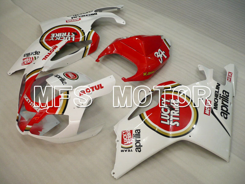 ABS Fairing For Aprilia RSV 1000 R 2003-2006 - Lucky Strike - Hvit Rød - MFS4331 - Shopping og engros