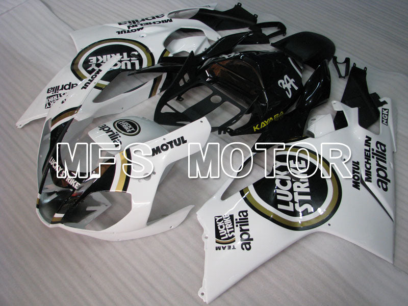 ABS Fairing For Aprilia RSV 1000 R 2003-2006 - Lucky Strike - Hvit Svart - MFS4333 - Shopping og engros