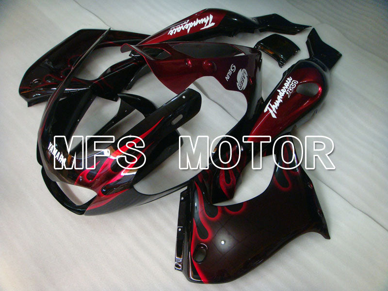 ABS Fairing For Yamaha YZF1000R 1997-2007 - Flame - Black Red - MFS4381 - shopping and wholesale
