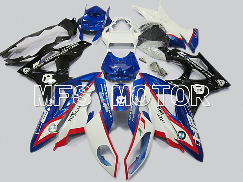 Injection ABS Fairing för BMW S1000RR 2009-2014 - Fabriksstil - Svart Vit Blå - MFS4482 - Shopping och grossist